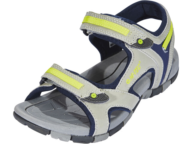 Hi-Tec GT Strap Sandalias Niños, cool grey/majolica blue/limoncello